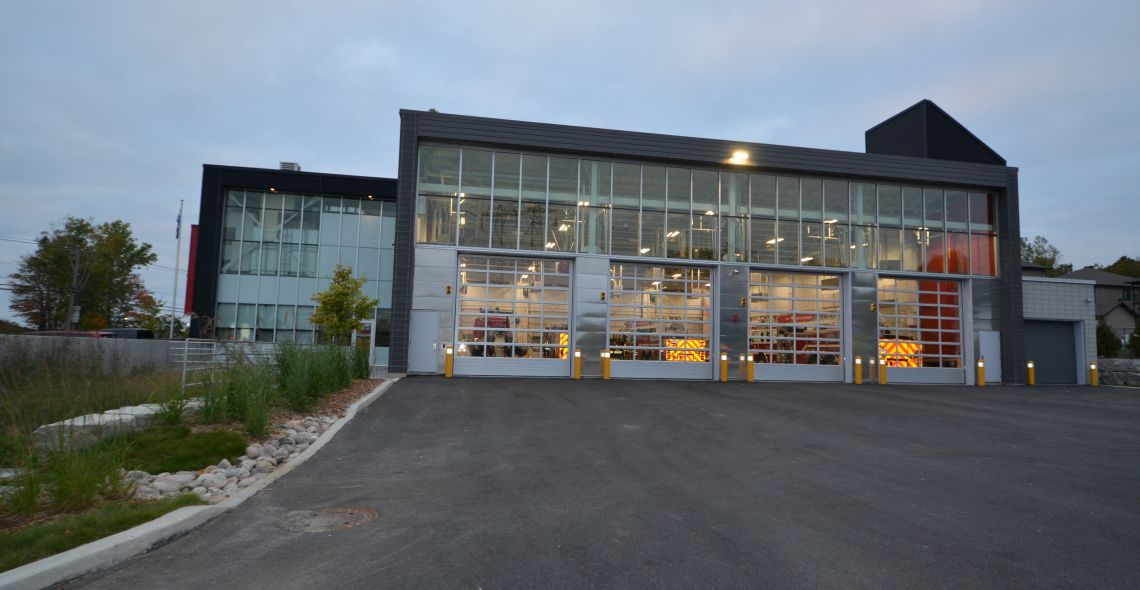 Fire hall no.6 for Gatineau firefighters